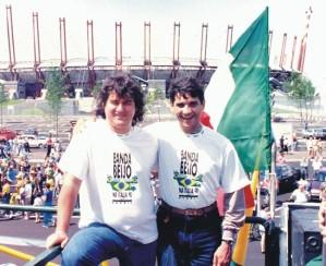Márcio e Misael na Itália em 1990