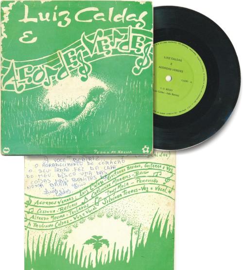 Capa do disco de Luiz Caldas e Acordes Verdes