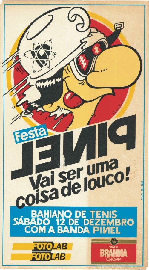 Cartaz do Bloco do Pinel de 1987 com Durval Lelys