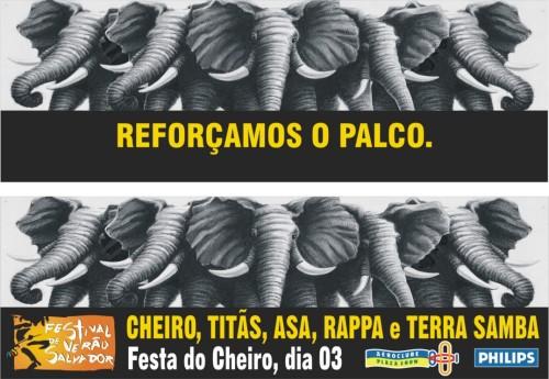 Outdoor Cheiro, Titãs, Asa, Rappa e Terra Samba