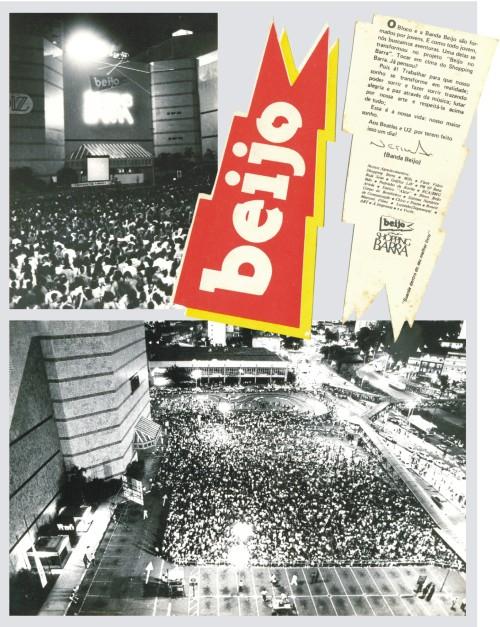 Banda Beijo faz show em cima do Shopping Barra