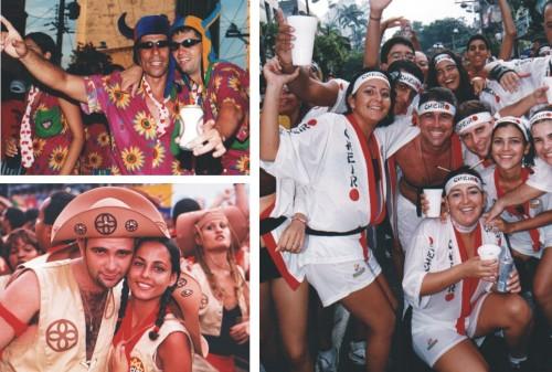 A irreverência do carnaval passa pelas fantasias do Cheiro.