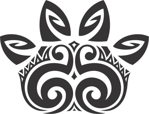 Patinha do Camaleão no estilo maori