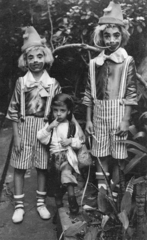 Palhaços no Carnaval de Salvador - eu e meus irmãos