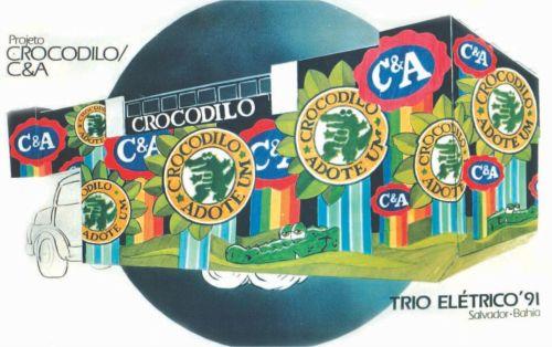 Projeto de Trio Elétrico - Crocodilo C&A - Carnaval 1991