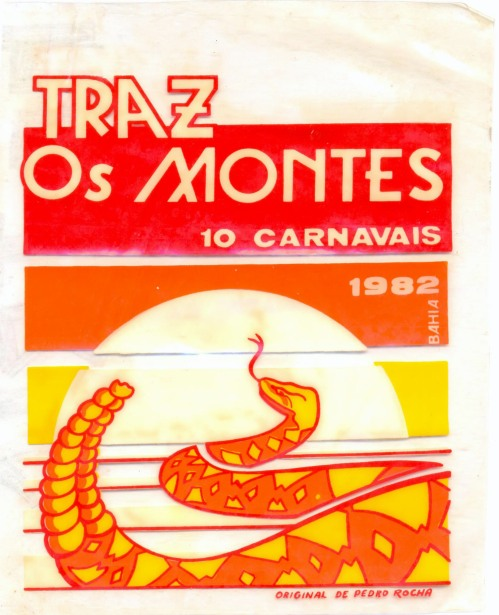 Plástico do Bloco Traz-os-Montes - Carnaval 1982