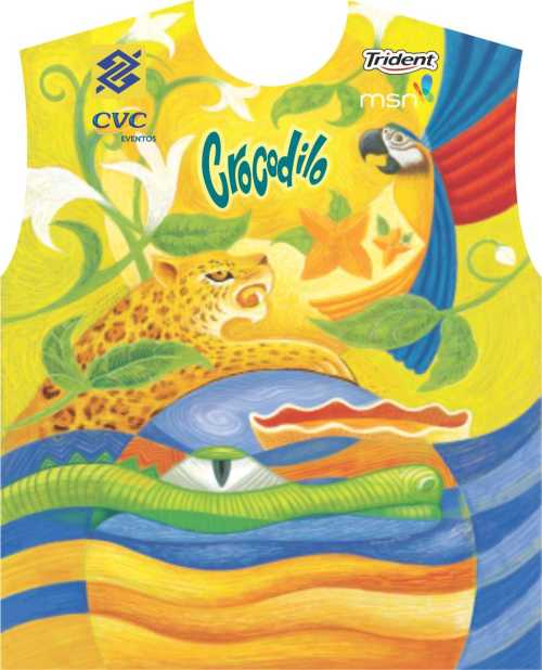 Abada do Bloco Crocodilo inspirado na Amazonia para o carnaval d Salvador 2012.