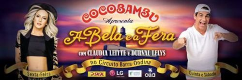 Outdoor A Bela e a Fera - Durval Lelys e Claudia Leitte.